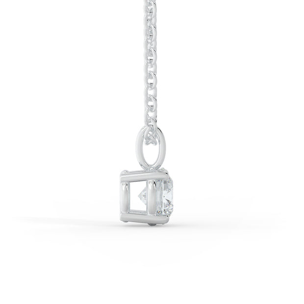 ½ CT TW 14k <strong>White Gold</strong> Lab-Grown Diamond Solitaire Necklace