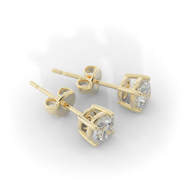 ½ CT TW 14k <strong>Yellow Gold</strong> Lab-Grown Diamond Stud Earrings