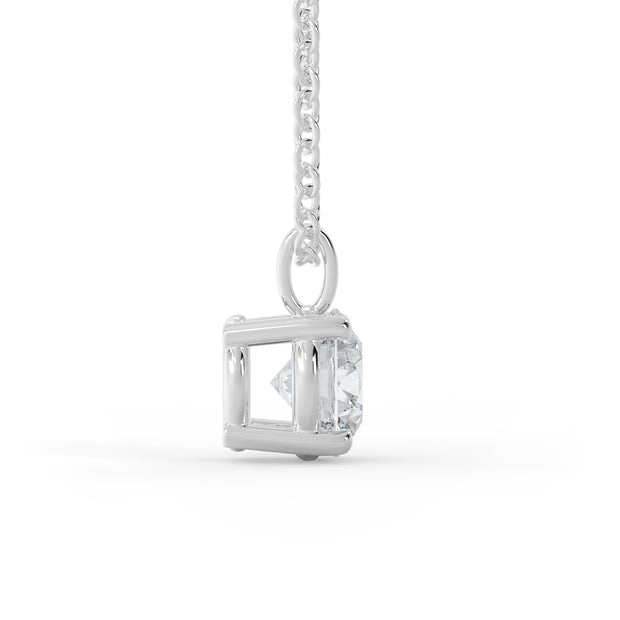 2 CT TW 14k <strong>White Gold</strong> Lab-Grown Diamond Solitaire Necklace