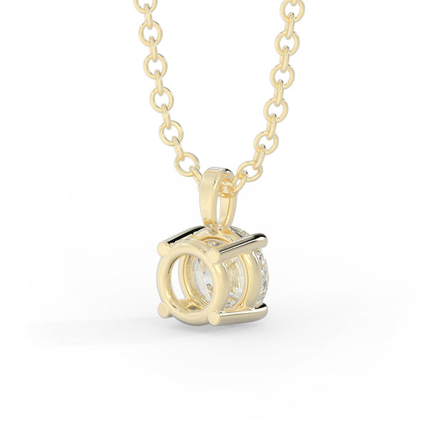 ¾ CT TW 14k <strong>Yellow Gold</strong> Lab-Grown Diamond Solitaire Necklace
