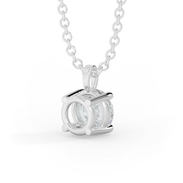1 CT TW 14k <strong>White Gold</strong> Lab-Grown Diamond Solitaire Necklace