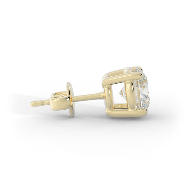 3 CT TW 14k <strong>Yellow Gold</strong> Lab-Grown Diamond Stud Earrings