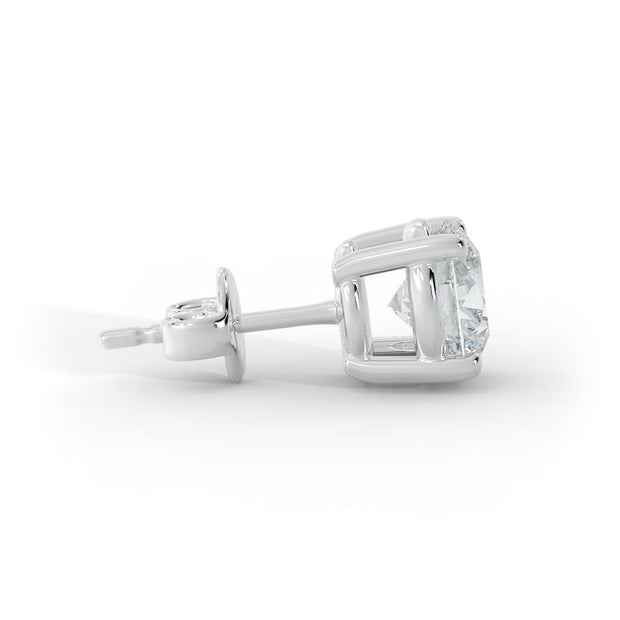 1 ½ CT TW 14k <strong>White Gold</strong> Lab-Grown Diamond Stud Earrings
