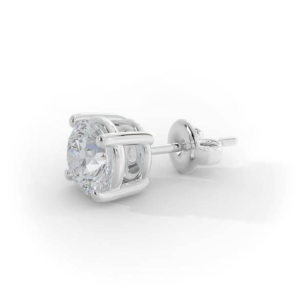 2 CT TW 14k <strong>White Gold</strong> Lab-Grown Diamond Stud Earrings