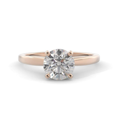 ¾ CT TW 14k <strong>Rose Gold</strong> Lab-Grown Diamond Solitaire Engagement Ring