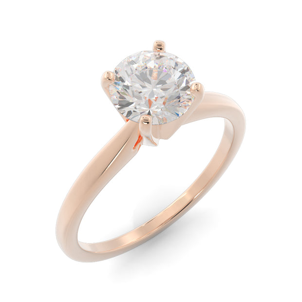 1 CT TW 14k <strong>Rose Gold</strong> Lab-Grown Diamond Solitaire Engagement Ring