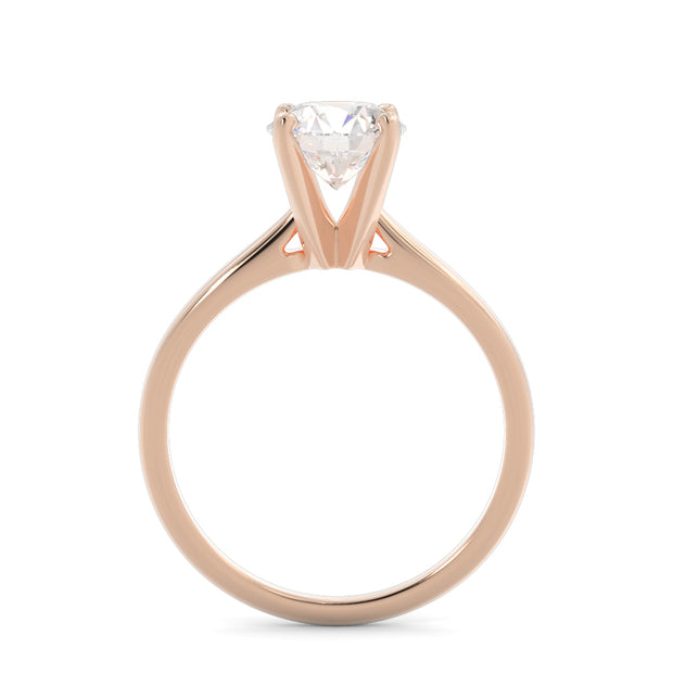 1 CT. TW 14k Rose Gold Lab-Grown Diamond Solitaire Engagement Ring