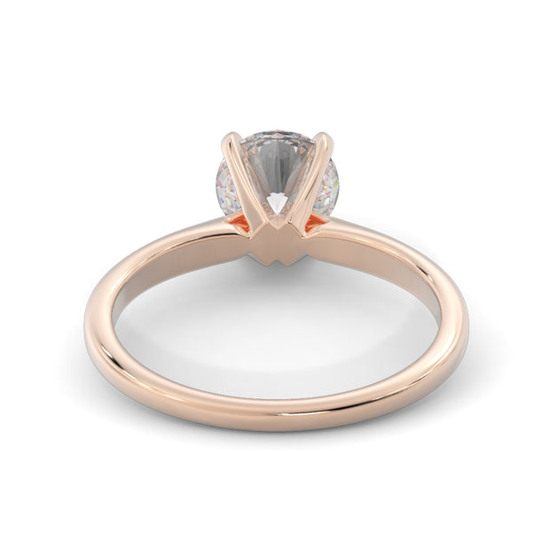 1/2 CT. TW 14k Rose Gold Lab-Grown Diamond Solitaire Engagement Ring
