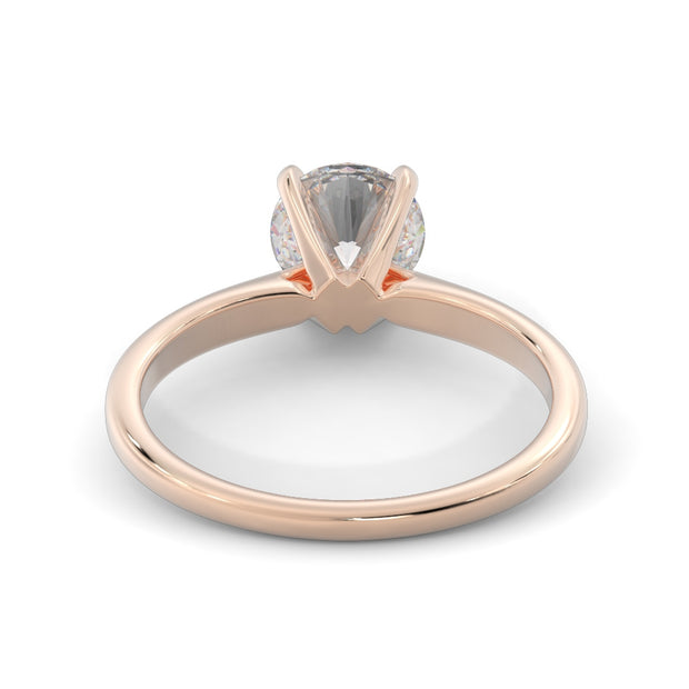 1 ¼ CT TW 14k <strong>Rose Gold</strong> Lab-Grown Diamond Solitaire Engagement Ring