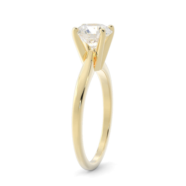½ CT TW 14k <strong>Yellow Gold</strong> Lab-Grown Diamond Solitaire Engagement Ring