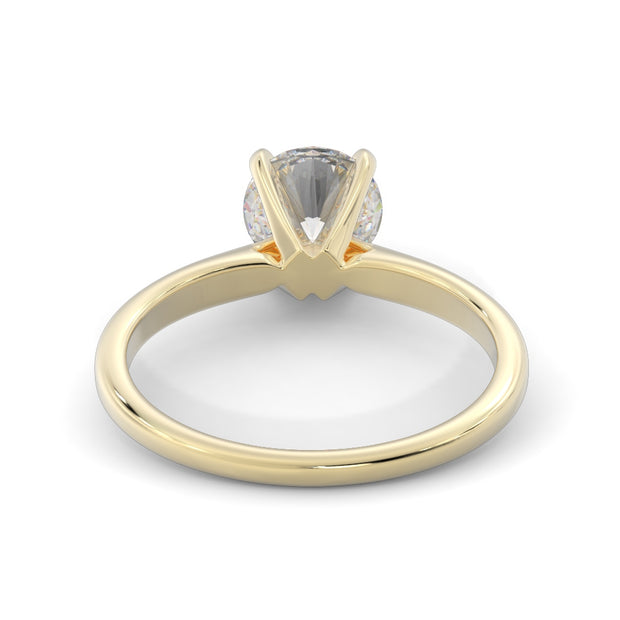 2 CT TW 14k <strong>Yellow Gold</strong> Lab-Grown Diamond Solitaire Engagement Ring