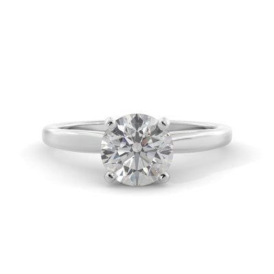 ½ CT TW 14k <strong>White Gold</strong> Lab-Grown Diamond Solitaire Engagement Ring