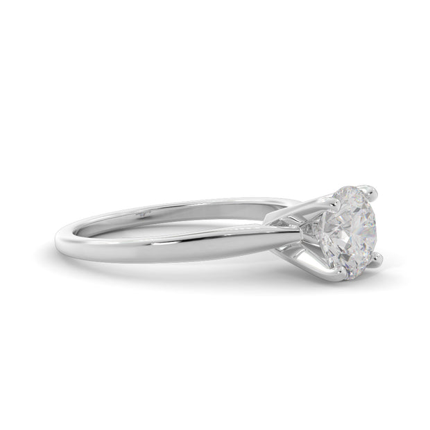 1 ¼ CT TW 14k <strong>White Gold</strong> Lab-Grown Diamond Solitaire Engagement Ring