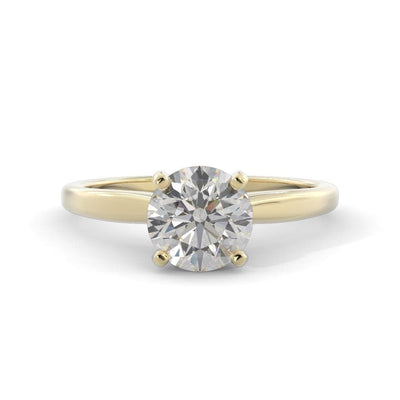1 ¼ CT TW 14k <strong>Yellow Gold</strong> Lab-Grown Diamond Solitaire Engagement Ring