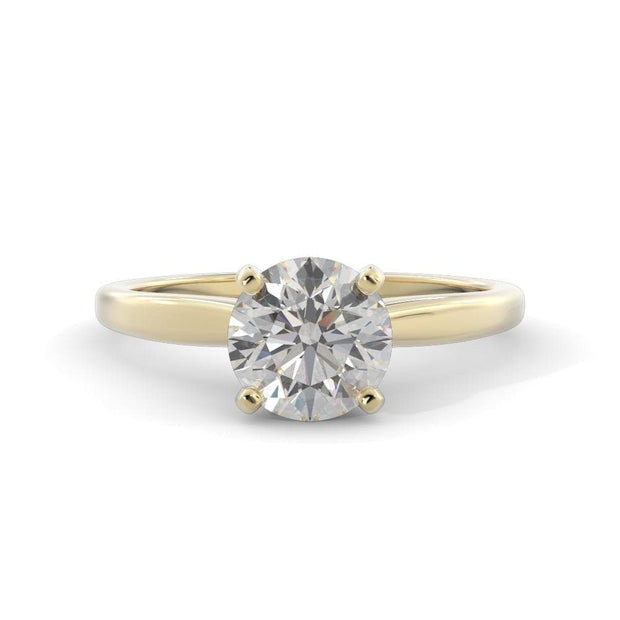 1 CT. TW 14k Yellow Gold Lab-Grown Diamond Solitaire Engagement Ring