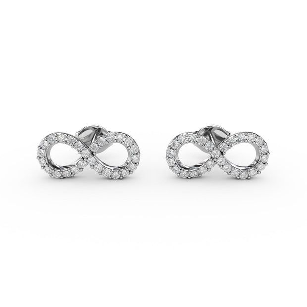 ½ CT TW <strong>Sterling Silver</strong> Lab-Grown Diamond Infinity Earrings
