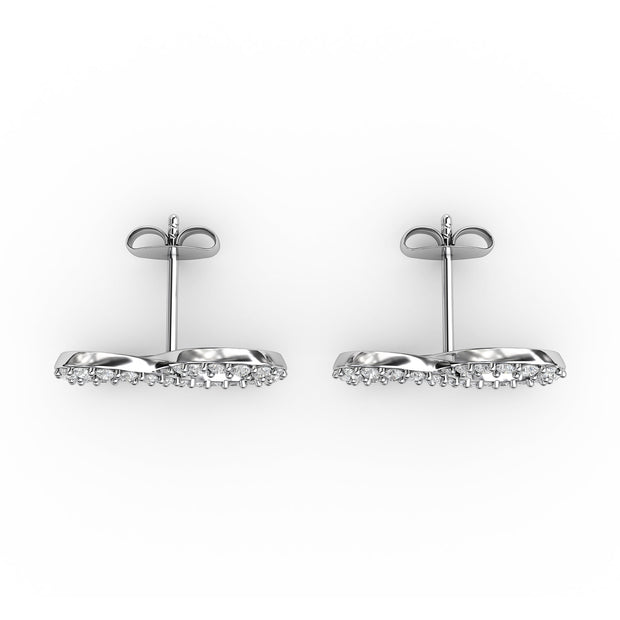 1/2 CT. TW Sterling Silver Lab-Grown Diamond Infinity Earrings