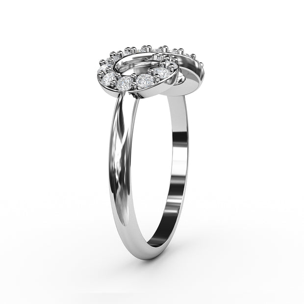 1/4 CT. TW Sterling Silver Lab-Grown Diamond Infinity Ring