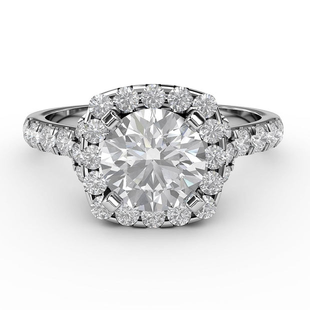 1 3/4 CT. TW Lab-Grown Diamond Halo Gallery Ring