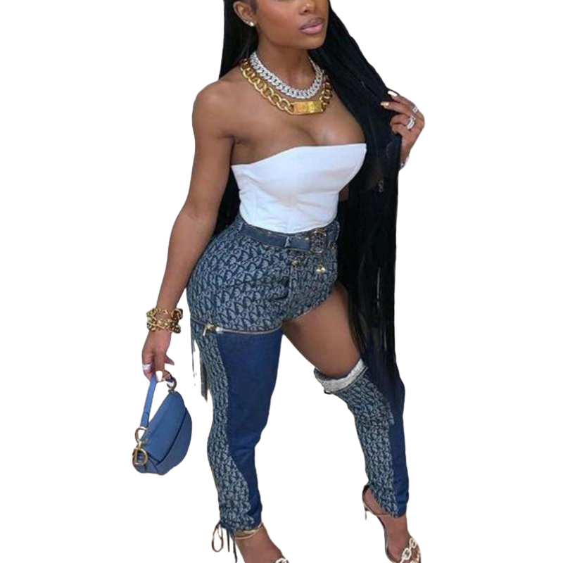 High Waist Jeans Style - Krafti Pop Cosmetics