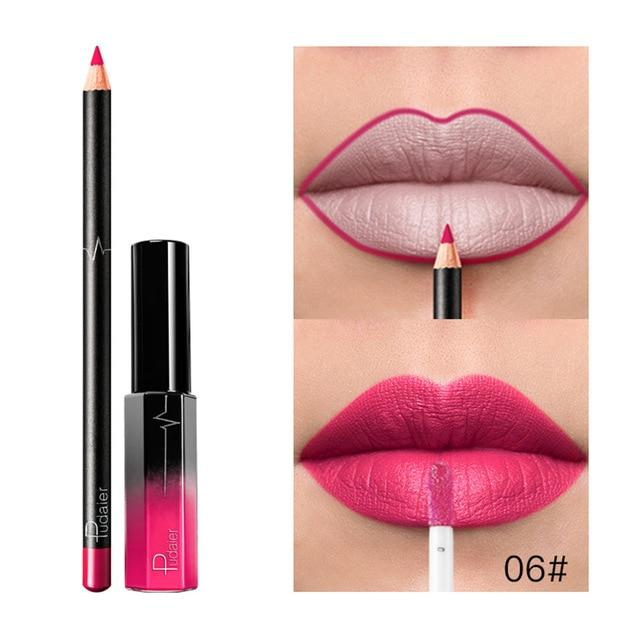 Lipgloss And Lip Liner - Krafti Pop Cosmetics