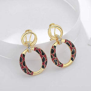 Gold Dangle Earrings - Krafti Pop