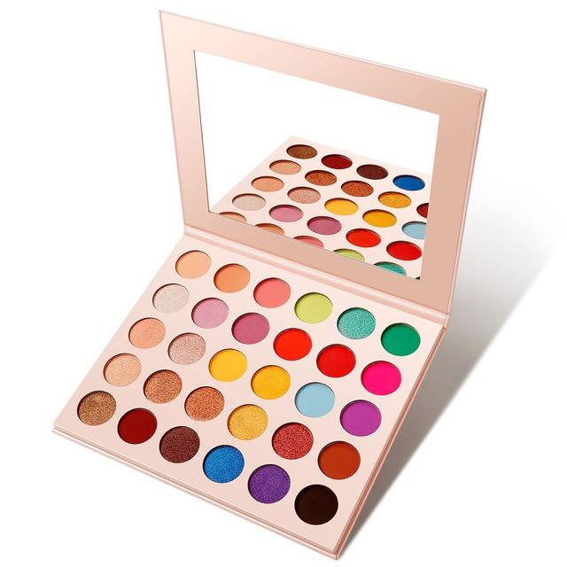 Matte And Glitter Eyeshadow Palette - Krafti Pop Cosmetics