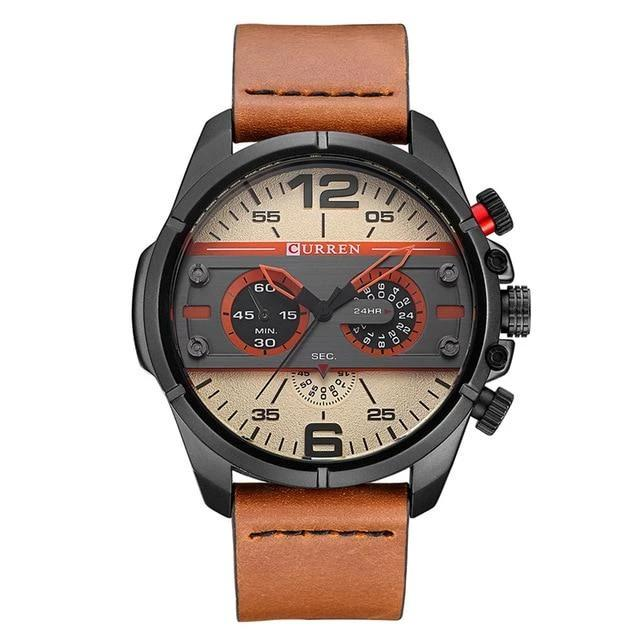 Men's Leather Watch - Krafti Pop Cosmetics