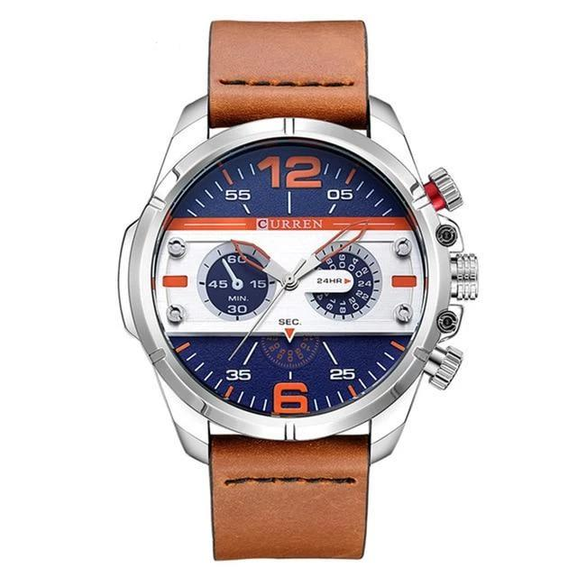 Men's Leather Watch_2020 - Krafti Pop Cosmetics