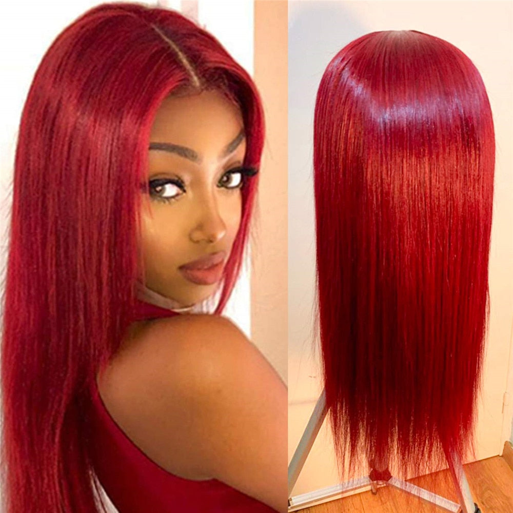 Red Lace Front Wig - Krafti Pop Cosmetics