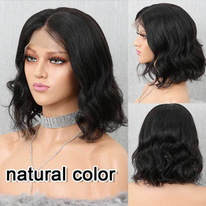 Short Bob Lace Front Human Hair Wigs - Krafti Pop Cosmetics