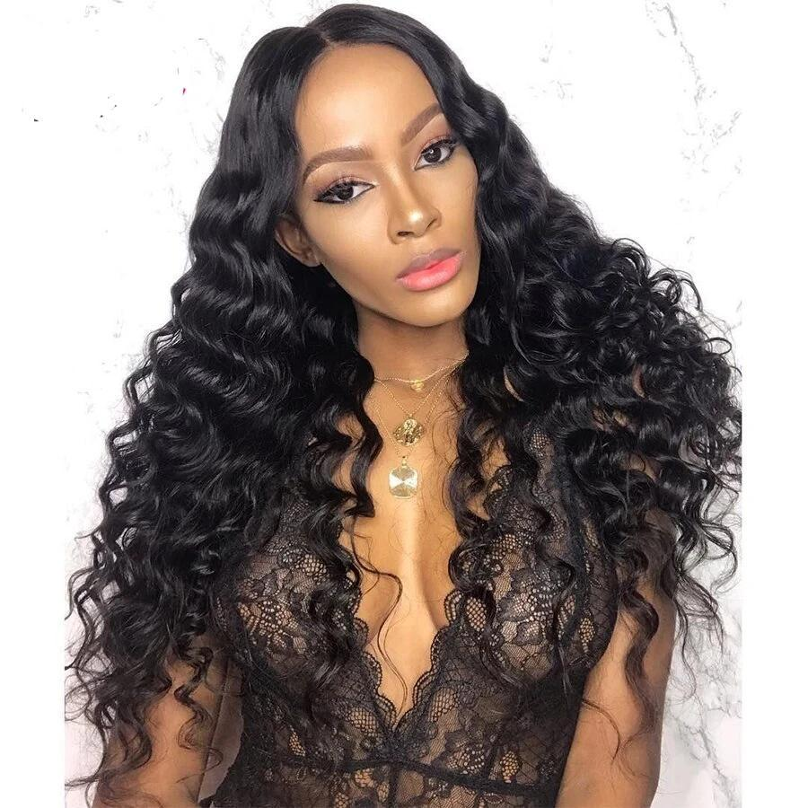 Curly Lace Front Human Hair Wigs - Krafti Pop Cosmetics