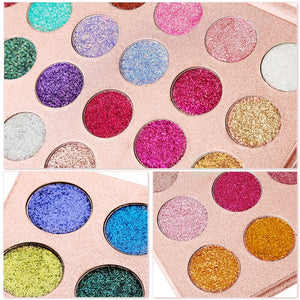 Glitter Eyeshadow Pallete - Krafti Pop Cosmetics
