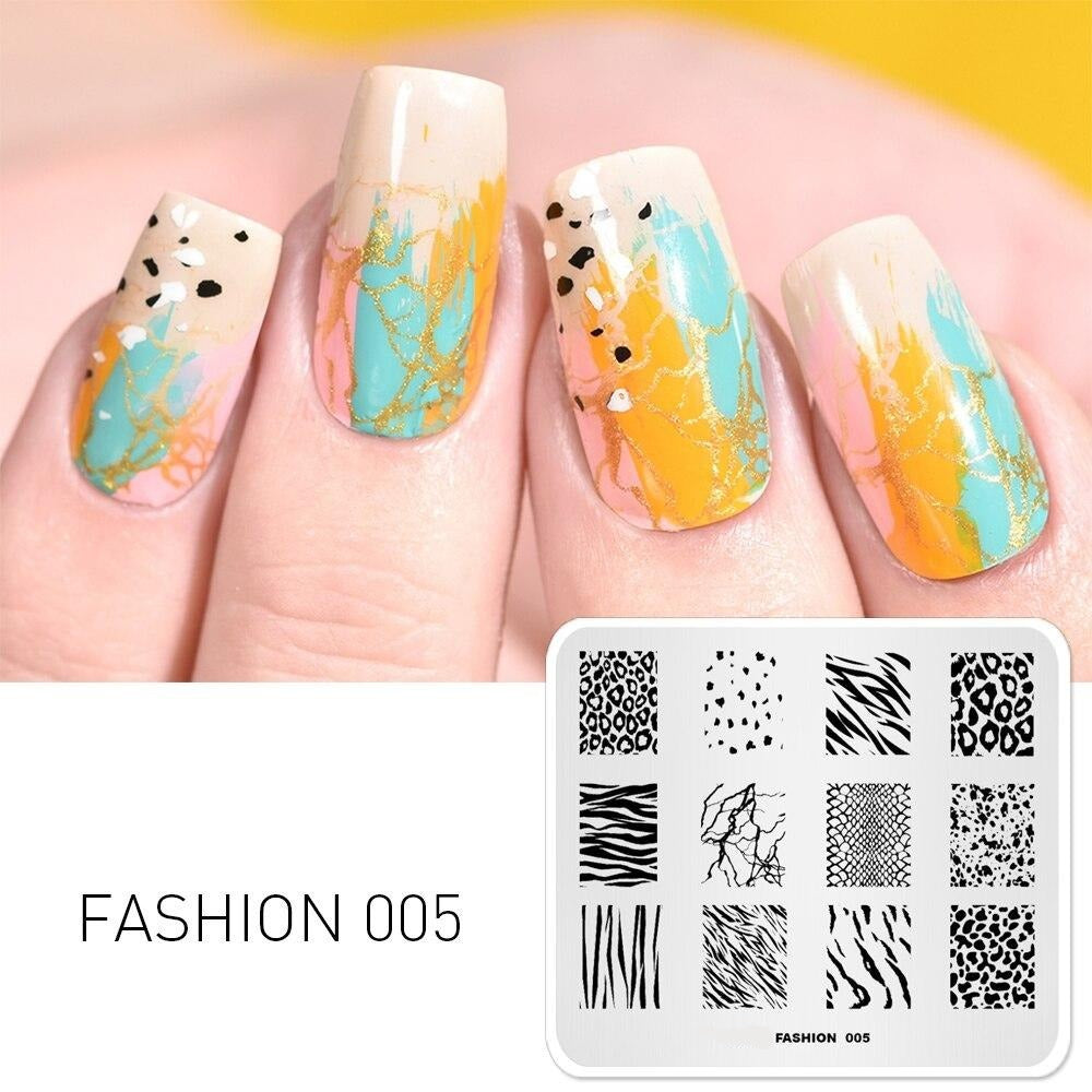 Leopard Speckle Shape Nail Decoration Stamp - Krafti Pop Cosmetics
