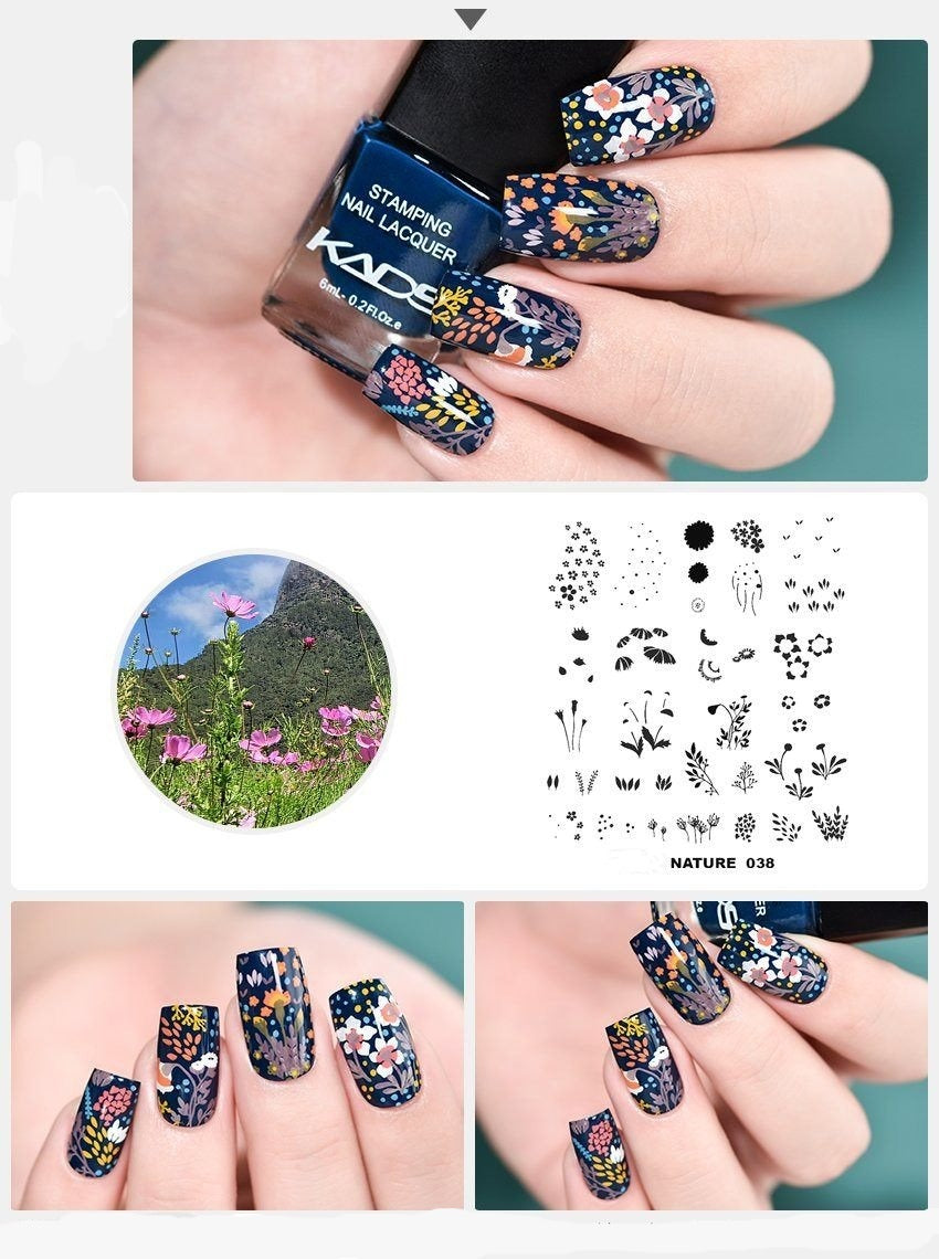 Nail Art Stamp Templates - Krafti Pop Cosmetics