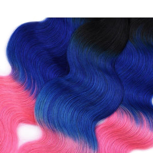 Ombre Bundles With Closure - Krafti Pop Cosmetics