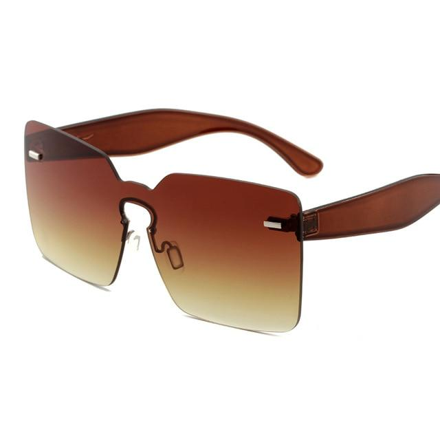 Women's Oversized Square Sunglasses - Krafti Pop Cosmetics