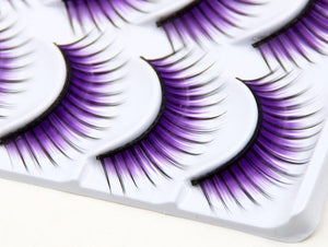 Purple False Eyelashes - Krafti Pop Cosmetics