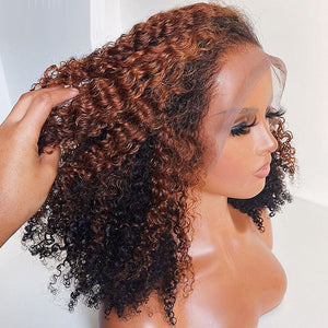 Kinky Curly Lace Front Human Hair Wig - Krafti Pop Cosmetics