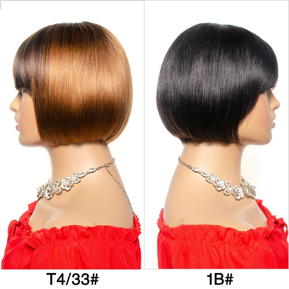 Human Hair Short Bob Wigs - Krafti Pop Cosmetics