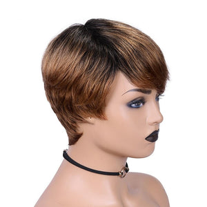 Short Human Hair Lace Front Wigs - Krafti Pop Cosmetics