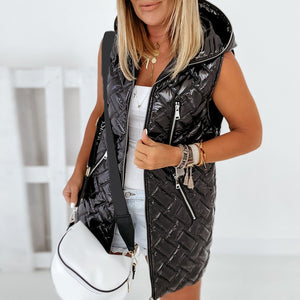 Women Sleeveless Jacket - Krafti Pop Cosmetics