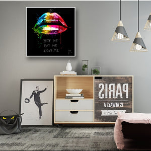 Lip Canvas Art - Krafti Pop Cosmetics
