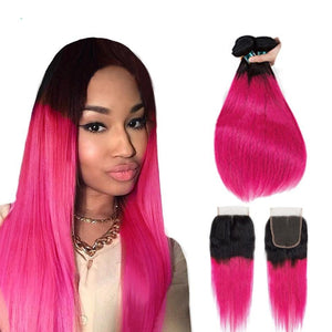 Rose Pink Ombre Hair - Krafti Pop Cosmetics