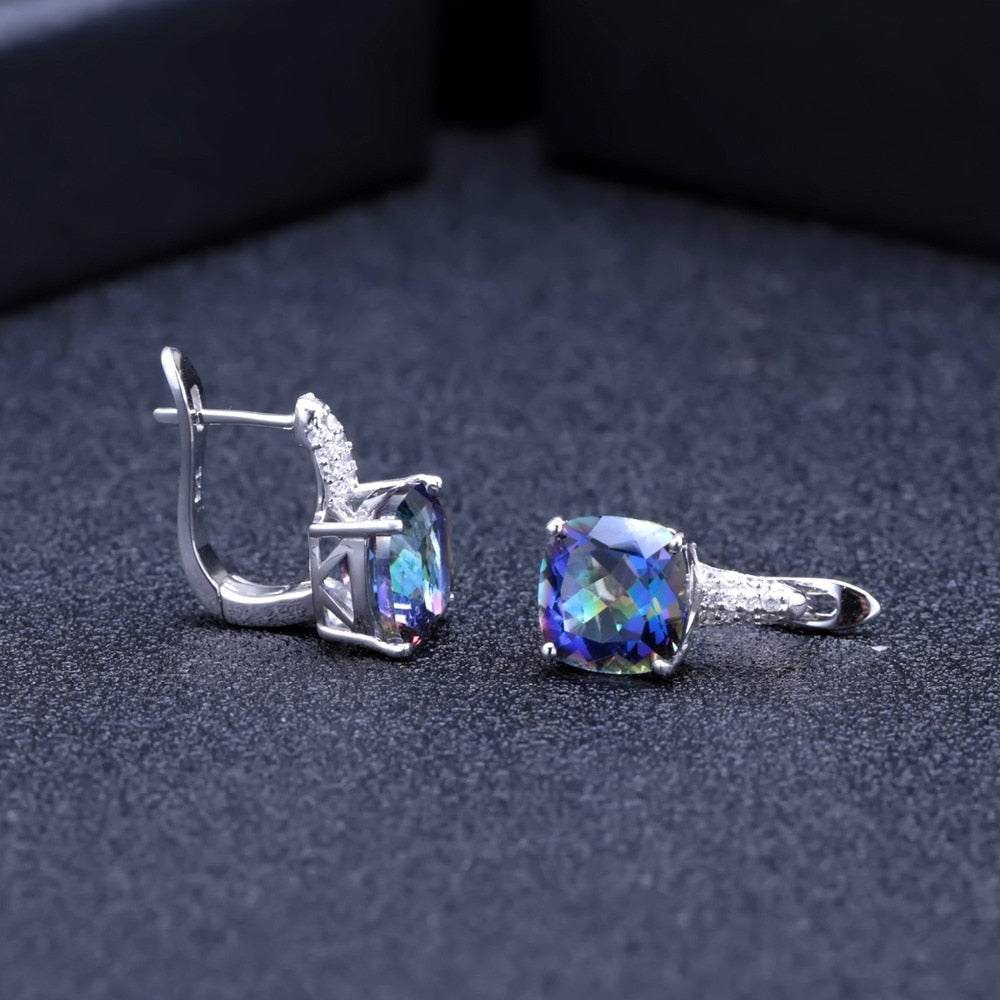 Gemstone Stud Earrings For Women - Krafti Pop Cosmetics
