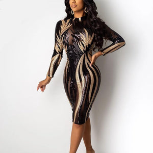 Sequined Bodycon Dress - Krafti Pop Cosmetics