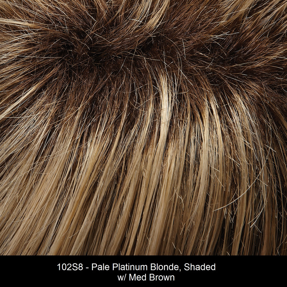 102S8 | Pale Platinum Blonde, Shaded with Medium Brown