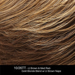 10/26TT FORTUNE COOKIE | Light Brown and Medium Red-Gold Blonde Blend with Light Brown Nape