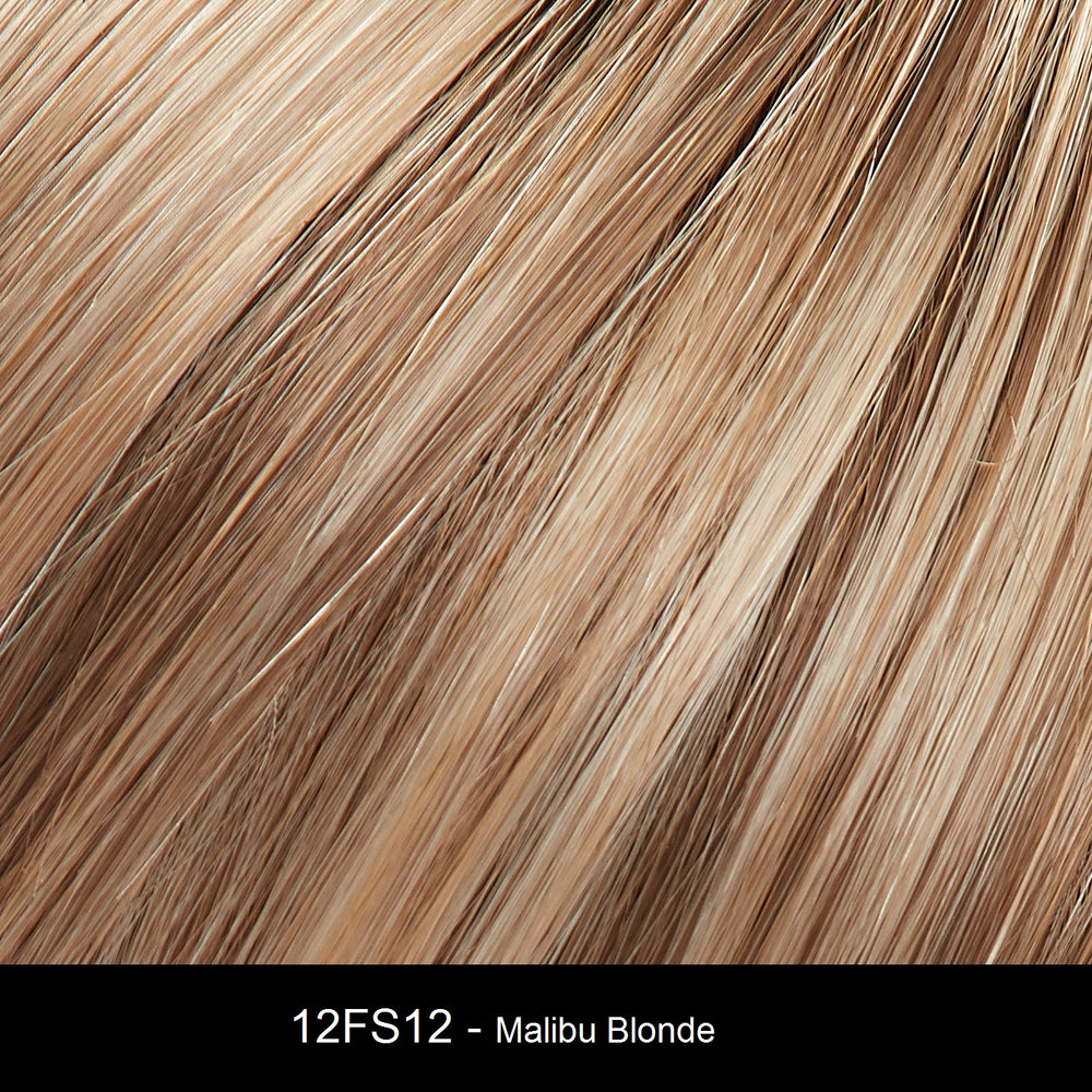 12FS12 MALIBU BLONDE | Lt Gold Brown, Lt Natural Gold Blonde & Pale Natural Gold-Blonde Blend, Shaded w/ Lt Gold Brown