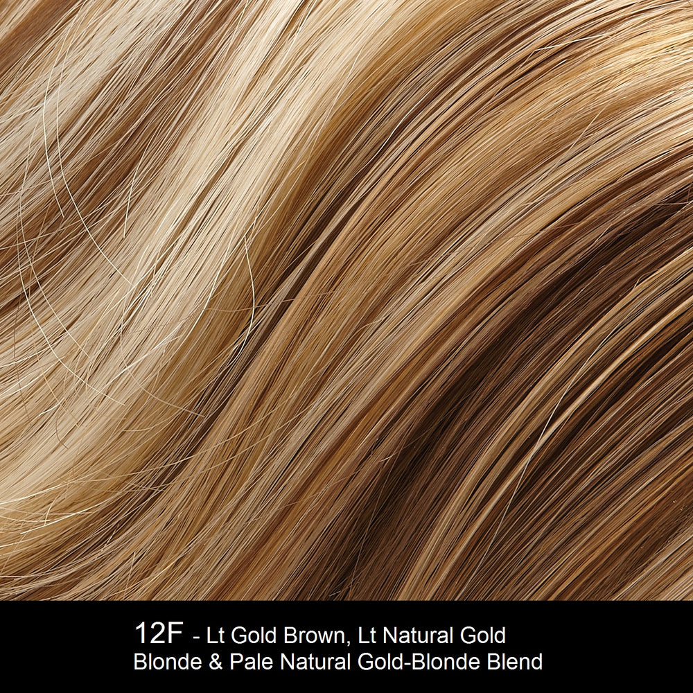 12F - Lt Gold Brown, Lt Natural Gold Blonde & Pale Natural Gold-Blonde Blend